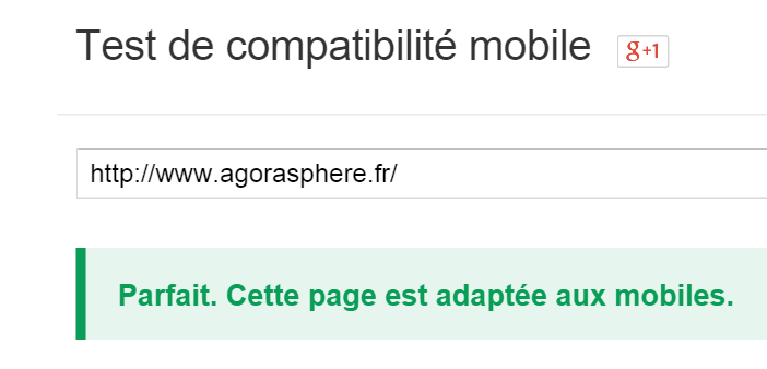 test de compatibilité mobile